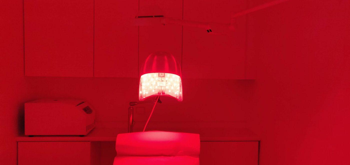 Salle de luminothérapie capillaire